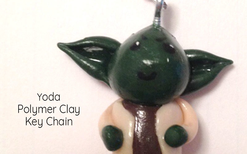Yoda Polymer Clay Key Chain Feature