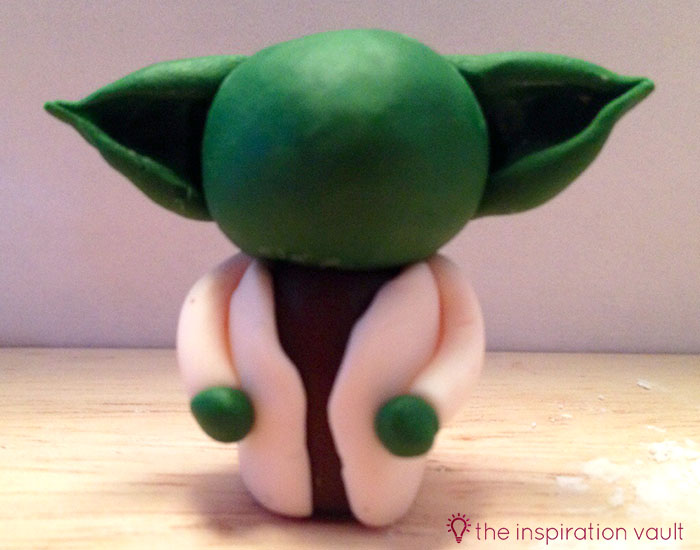 Yoda Polymer Clay Key Chain Step 14