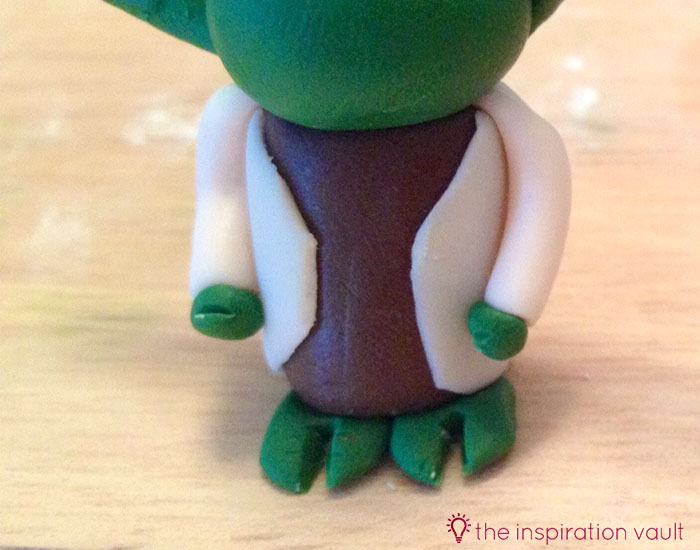 Yoda Polymer Clay Key Chain Step 15