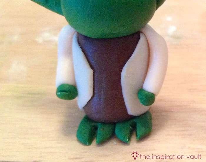 Yoda Polymer Clay Key Chain Step 15
