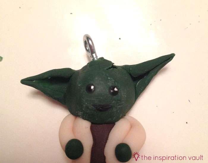 Yoda Polymer Clay Key Chain Step 16