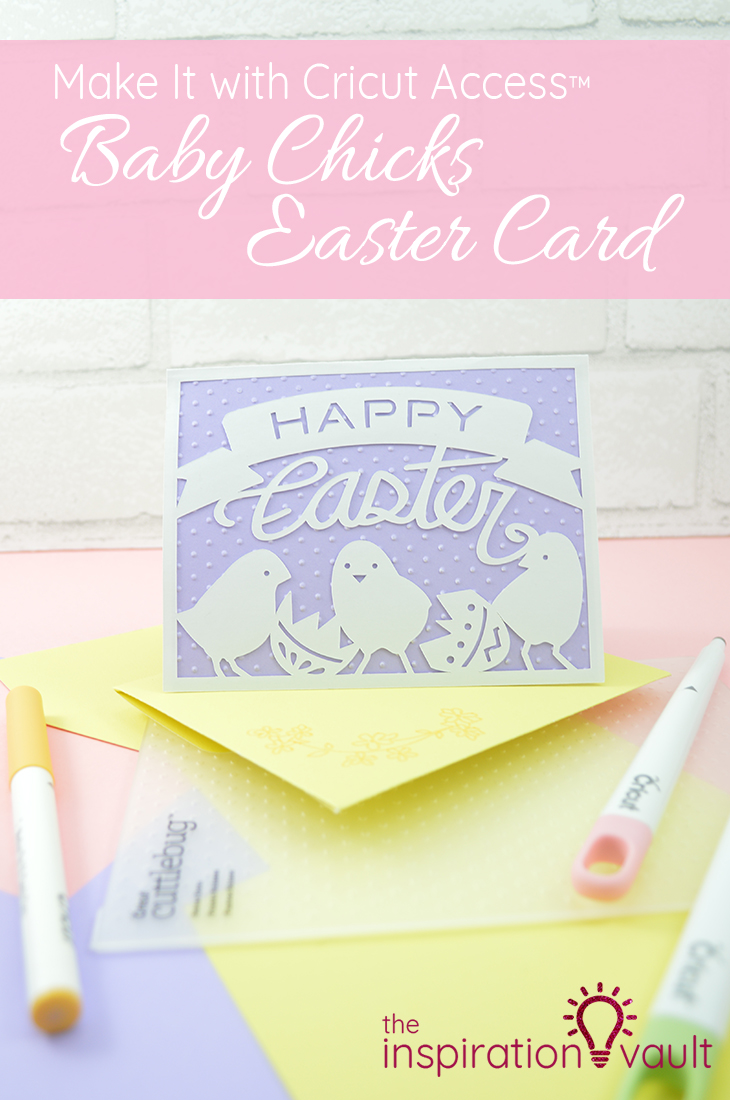 Baby Chicks Easter Card handmade card craft tutorial for our Make It with Cricut Access series