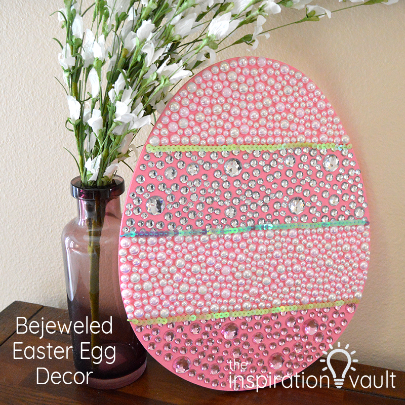 Bejeweled Easter Egg Decor Feature