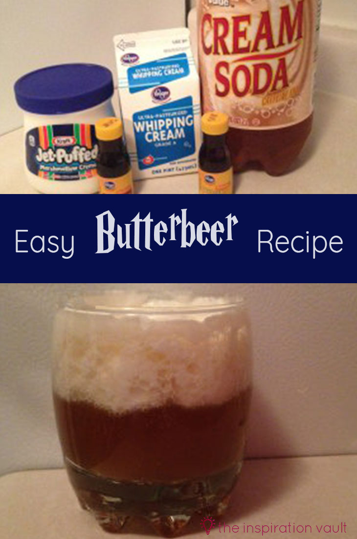 Easy Butterbeer Recipe Party Food and Beverage Recipe for Harry Potter
