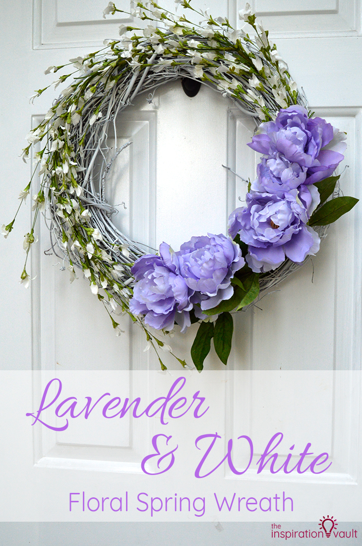 Lavender & White Floral Spring Wreath Craft Tutorial