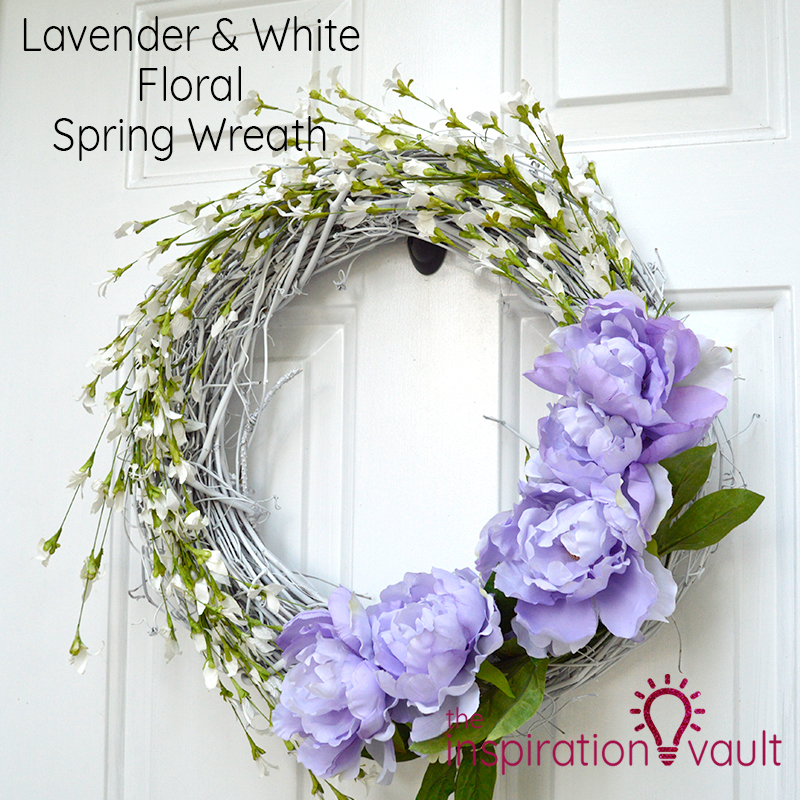 Lavender & White Floral Spring Wreath Feature