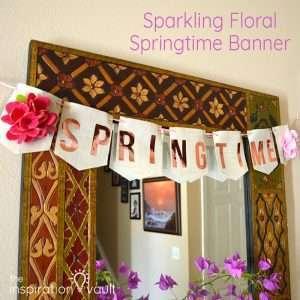 Sparkling Floral Springtime Banner Feature
