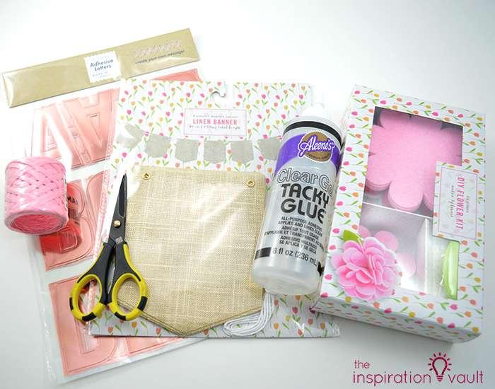 Sparkling Floral Springtime Banner Materials