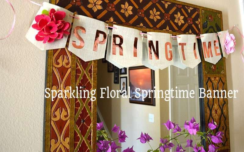 Sparkling Floral Springtime Banner Slider