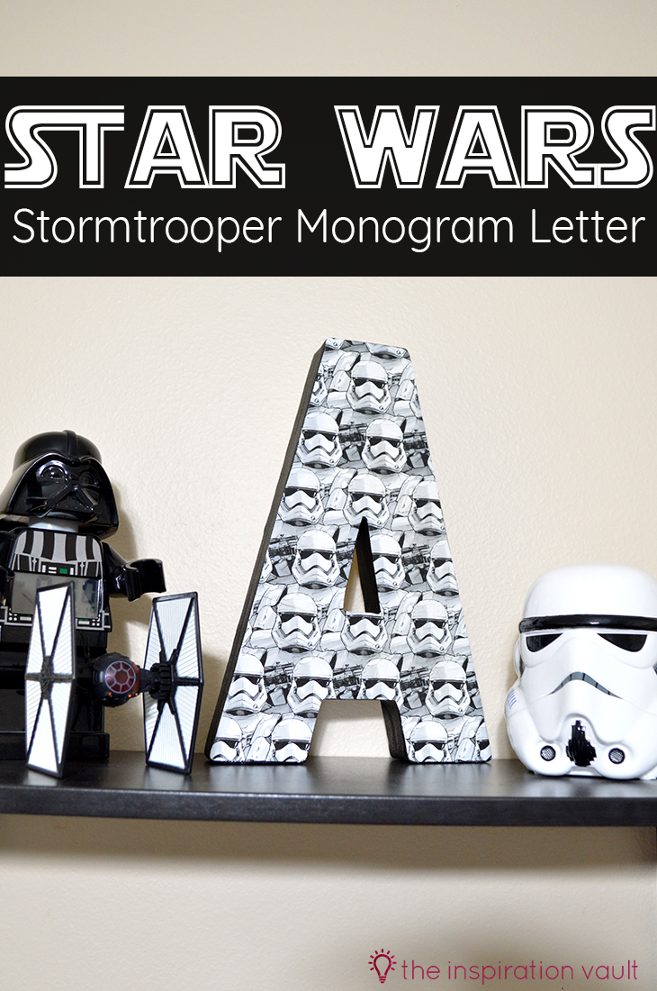 Star Wars Stormtrooper Monogram Letter Decoupage Craft Tutorial