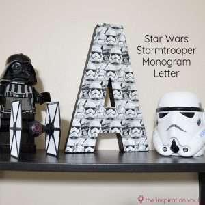 Star Wars Stormtrooper Mongram Letter Feature