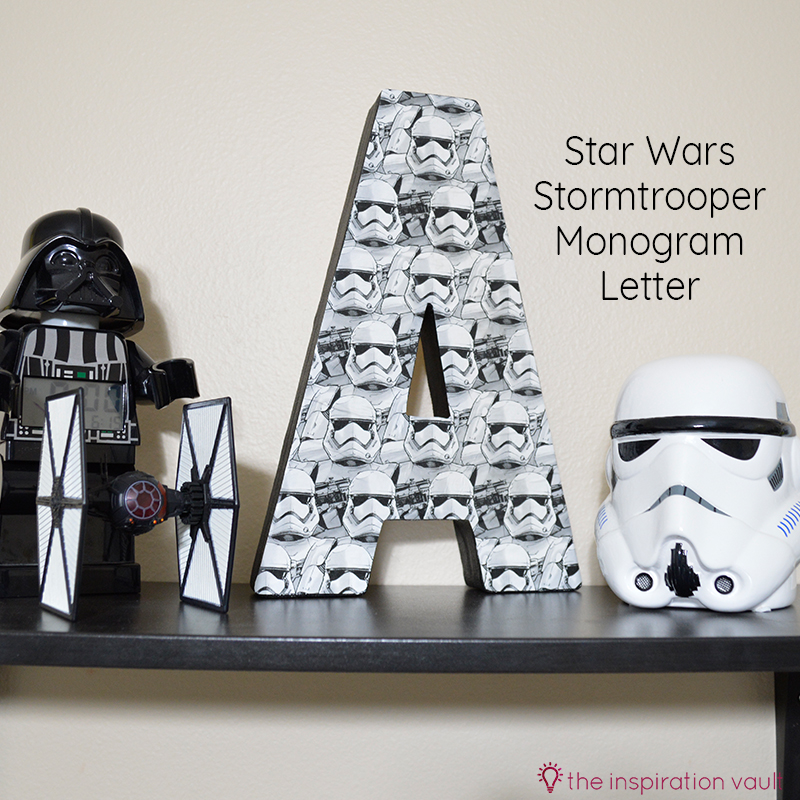 Star Wars Stormtrooper Mongram Letter Feature