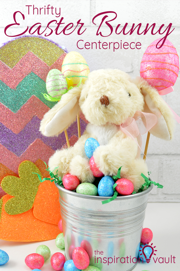 Thrifty Easter Bunny Centerpiece DIY Craft Tutorial