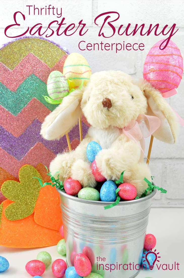 Thrifty Easter Bunny Centerpiece Craft Tutorial