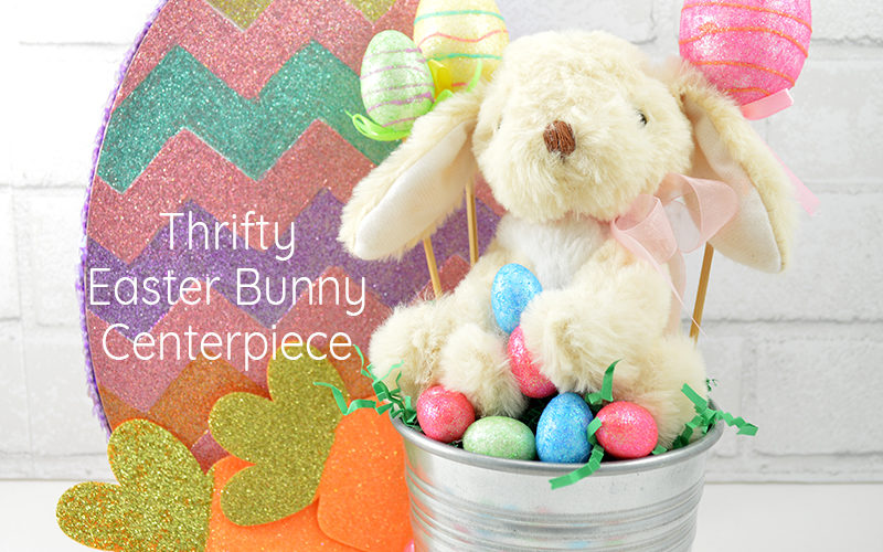 Thrifty Easter Bunny Centerpiece Feature