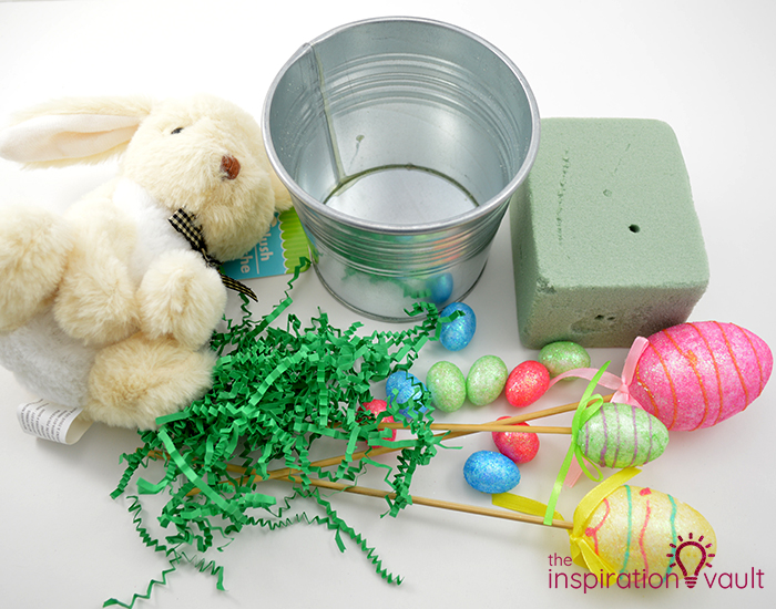 Thrifty Easter Bunny Centerpiece Materials