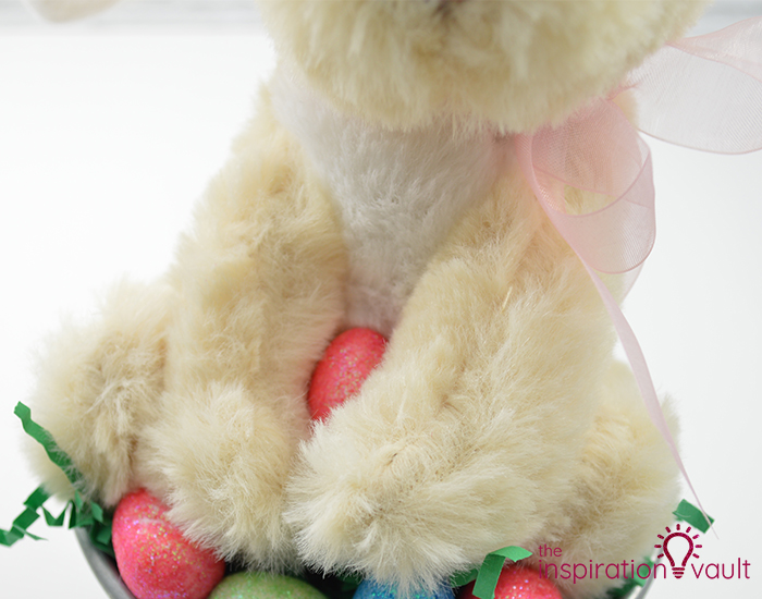 Thrifty Easter Bunny Centerpiece Step 4