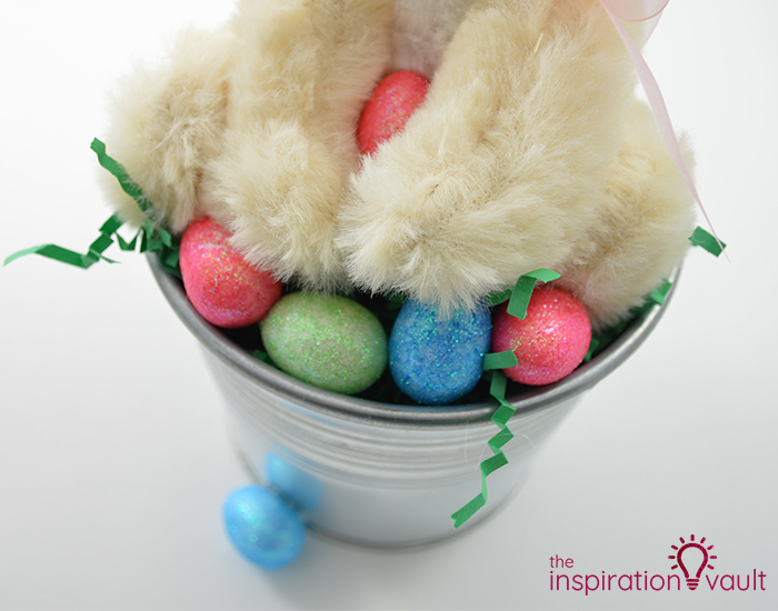 Thrifty Easter Bunny Centerpiece Step 5a