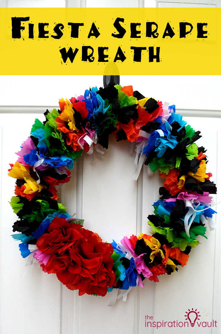 Fiesta Serape Wreath Craft Tutorial Cinco de Mayo Party Decoration