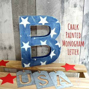 Chalk Painted Monogram Letter Feature