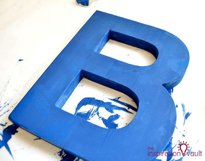 Chalk Painted Monogram Letter Step 1b