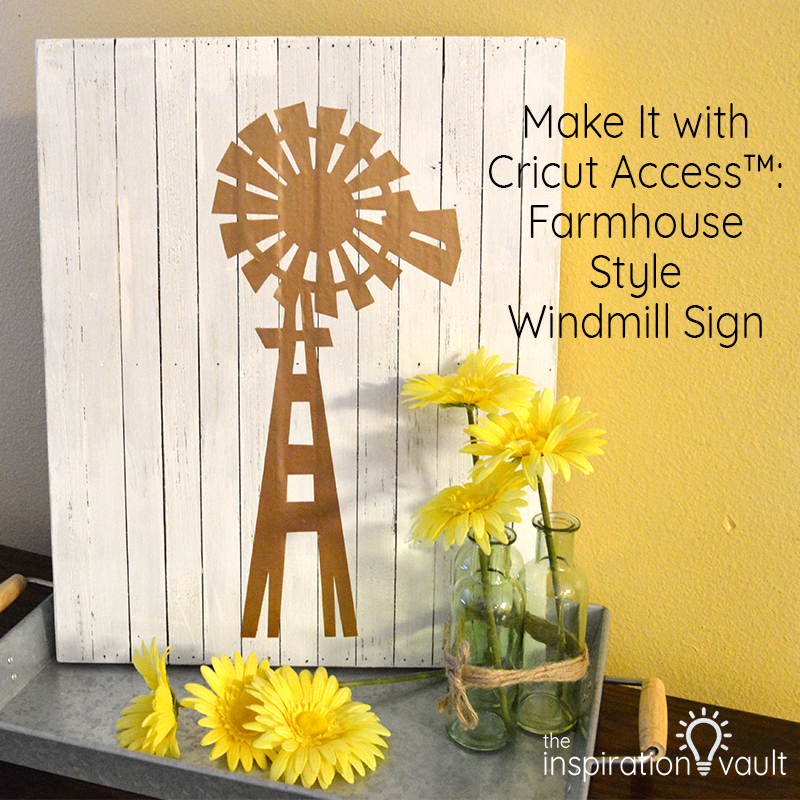 Farmhouse Style Windmill Sign Feature
