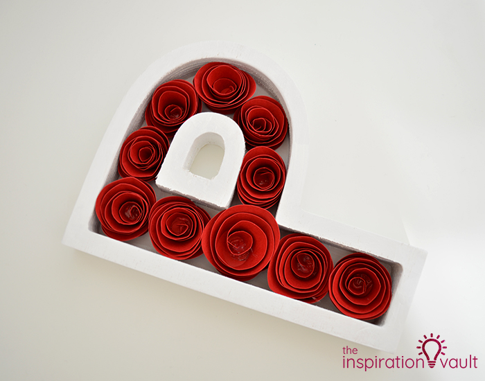 Paper Rose-Filled Monogram Letter Complete