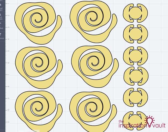 Paper Rose-Filled Monogram Letter Step 4