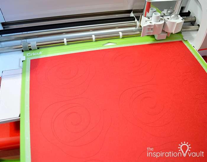 Paper Rose-Filled Monogram Letter Step 5