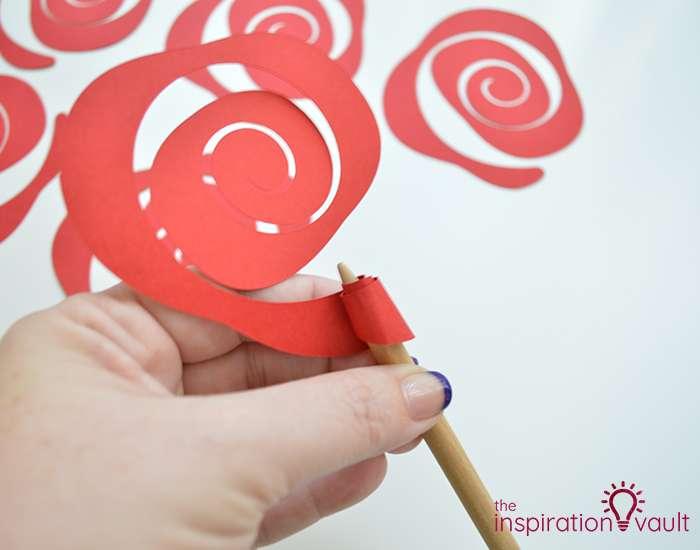 Paper Rose-Filled Monogram Letter Step 7