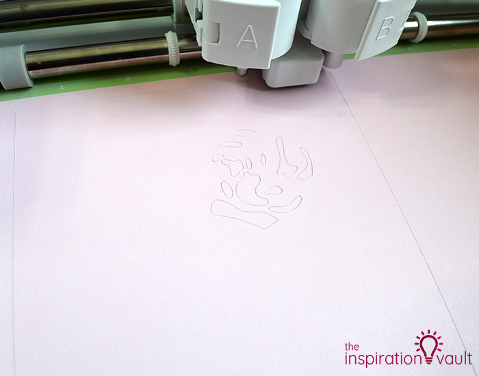 Lovely Red Rose Cricut Birthday Card Step 10b