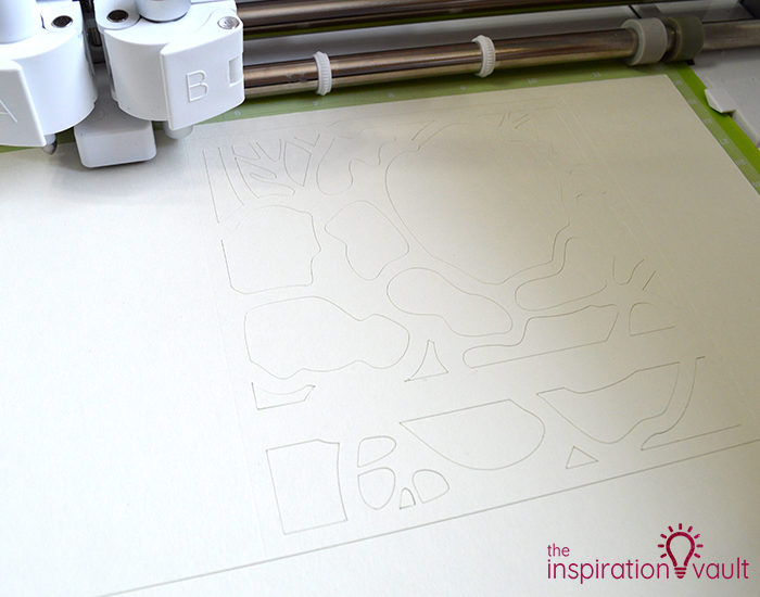 Lovely Red Rose Cricut Birthday Card Step 11b