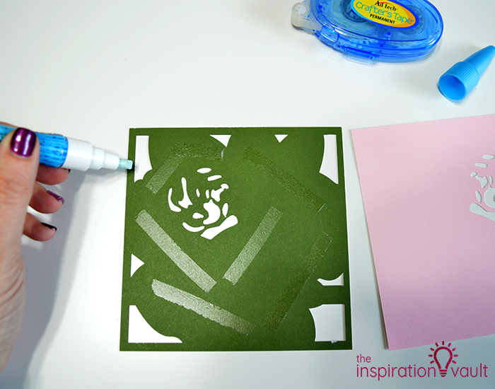 Lovely Red Rose Cricut Birthday Card Step 12b