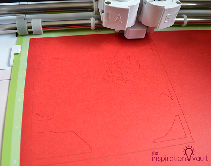 Lovely Red Rose Cricut Birthday Card Step 7b