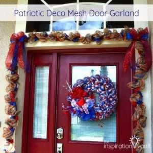 Patriotic Deco Mesh Door Garland Feature