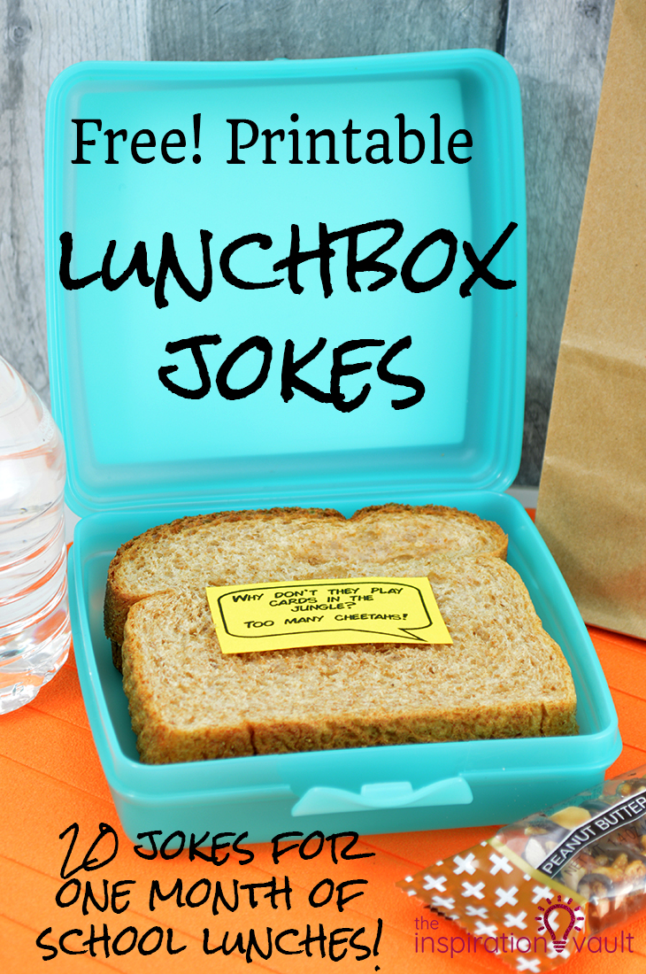 Free Printable Lunchbox Jokes PDF file for you to Print for school lunches