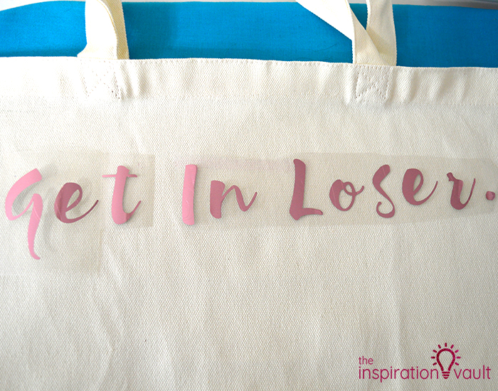 Mean Girls Inspired Shopping Tote Step 4