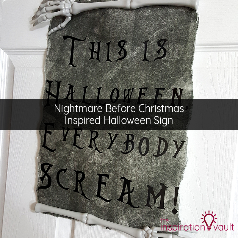 Nightmare Before Christmas Inspired Halloween Sign Feature