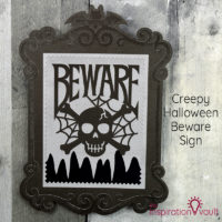 Creepy Halloween Beware Sign Feature