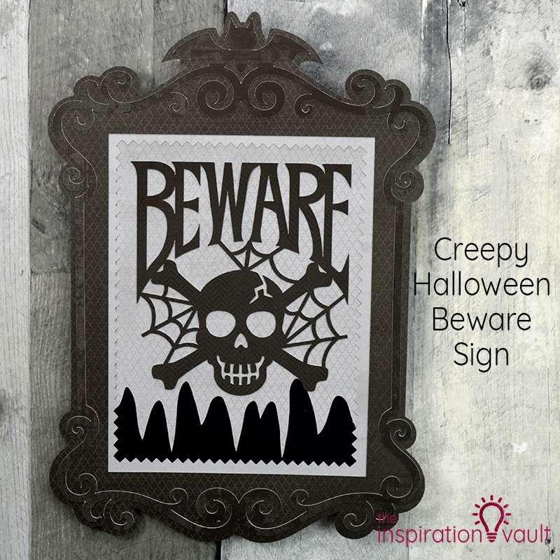 Creepy Halloween Beware Sign Feature