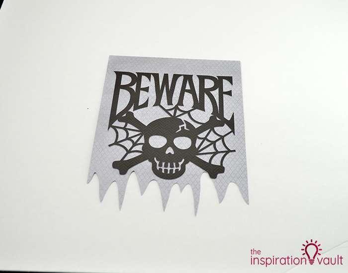 Creepy Halloween Beware Sign Step 4