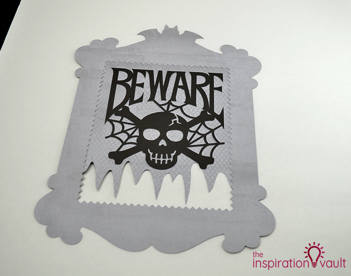 Creepy Halloween Beware Sign Step 5