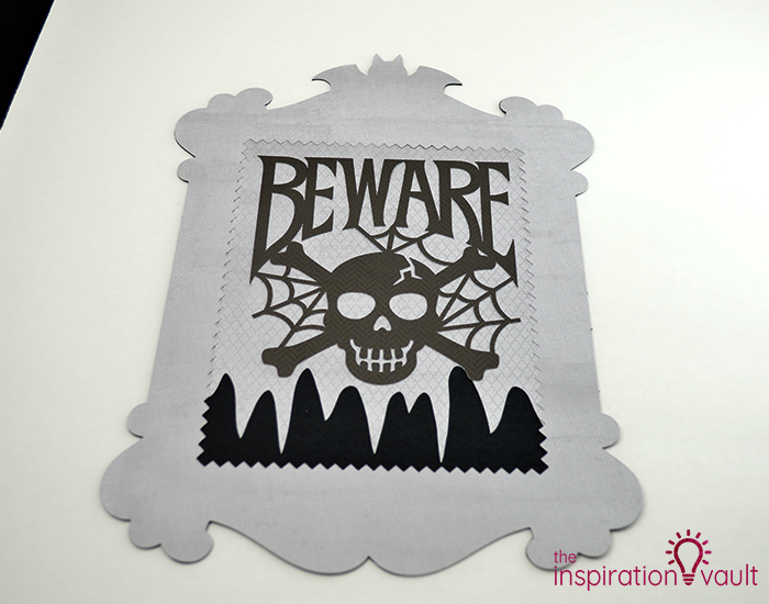 Creepy Halloween Beware Sign Step 6