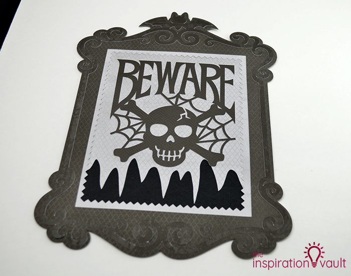 Creepy Halloween Beware Sign Step 7