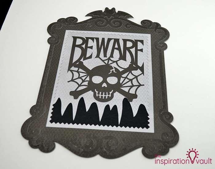 Creepy Halloween Beware Sign Step 7