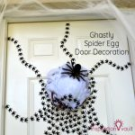 Ghastly Spider Egg Door Decoration