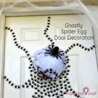 Ghastly Spider Egg Door Decoration Feature