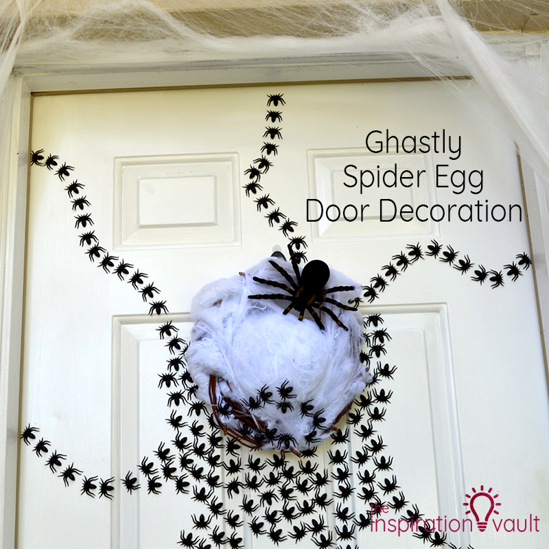 Ghastly Spider Egg Door Decoration Feature