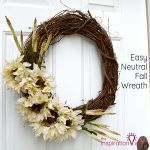 Easy Neutral Fall Wreath
