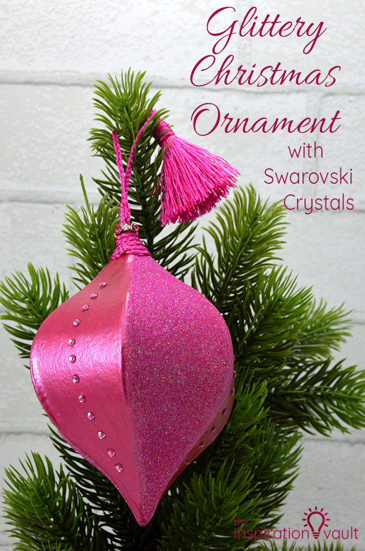 Glittery Christmas Ornament with Swarovski Crystals DIY Craft Tutorial